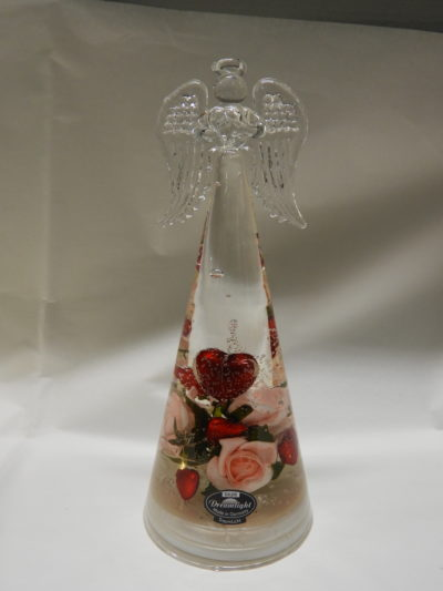 Grand ange en verre coeur